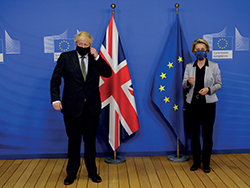 BL72_brexit_Boris Johnson and Ursula von der Leyen
