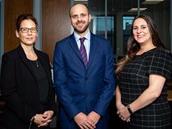 Helen Shoreson, Chris Carter and Giorgina Lister