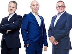 Philip Robinson, Paul Coundley and Sean Le Scelleur