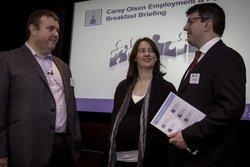 Carey Olsen of counsel Huw Thomas and associates Sarah Townsend and Jon McKay
