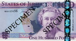 Jersey £100 note